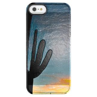 Arizona Saguaro Cactus  Sunset Plastic 3d Art Clear iPhone SE/5/5s Case