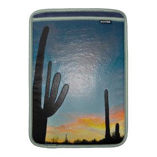 Arizona Saguaro Cactus  Sunset Plastic 3d Art MacBook Sleeve