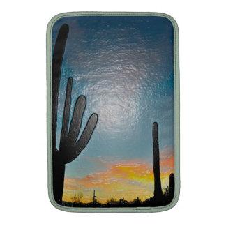 Arizona Saguaro Cactus  Sunset Plastic 3d Art Sleeves For MacBook Air