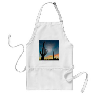 Arizona Saguaro Cactus  Sunset Plastic 3d Art Standard Apron