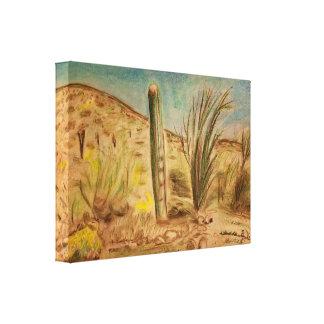 Arizona Saguaro Mountain Landscape Canvas Print