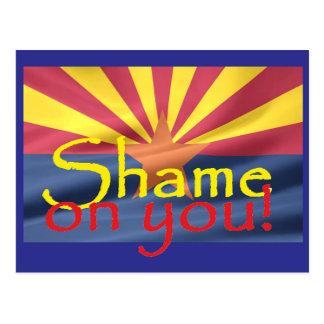 Arizona SHAME ON YOU Postcard