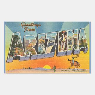 Arizona, Sheet of 4 Arizona stickers