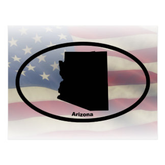 Arizona Silhouette Oval Design Postcard