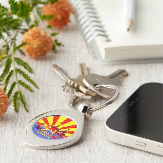 Arizona Silver-Colored Swirl Key Ring