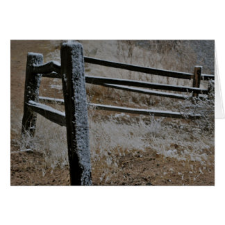 Arizona St David Snow on Fence Note Card