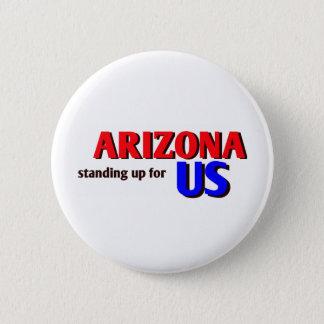 ARIZONA, standing up for US 6 Cm Round Badge