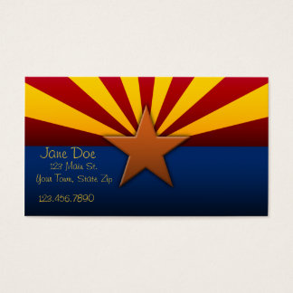 Arizona State Flag Business Cards