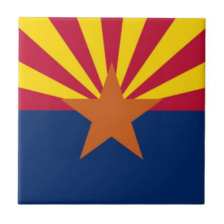 Arizona State Flag Ceramic Tile