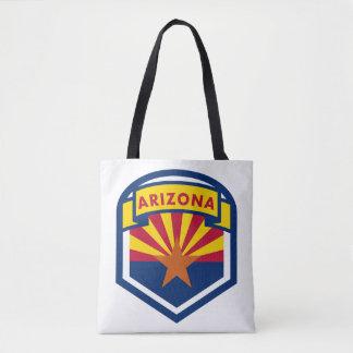 Arizona State Flag Crest Tote Bag