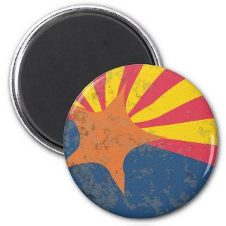 Arizona State Flag Grunge 6 Cm Round Magnet