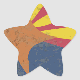 Arizona State Flag Grunge Star Sticker