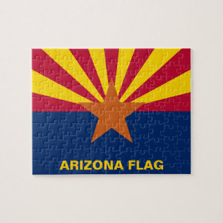 Arizona State Flag Jigsaw Puzzle
