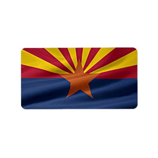 Arizona State Flag Label