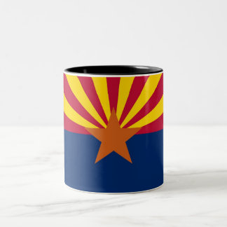 Arizona State Flag Two-Tone Coffee Mug