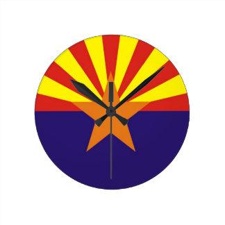arizona state flag usa clock