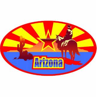 Arizona State Flag Vintage Drawing Photo Sculpture Magnet