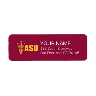 Arizona State Fork Return Address Label