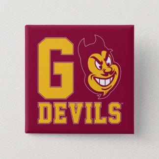 Arizona State Go Devils 15 Cm Square Badge
