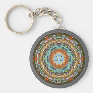 Arizona State Mandala Keychain