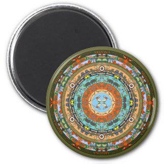 Arizona State Mandala Magnet