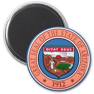 Arizona State Seal 6 Cm Round Magnet