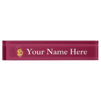 Arizona State Sparky Nameplate