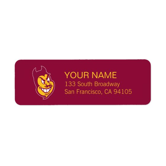 Arizona State Sparky Return Address Label