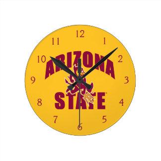 Arizona State Sun Devil Round Clock