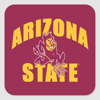 Arizona State Sun Devil Square Sticker