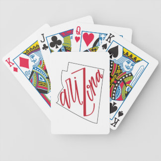 Arizona | State Typography Design Bicycle Playing Cards