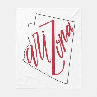 Arizona | State Typography Design Fleece Blanket