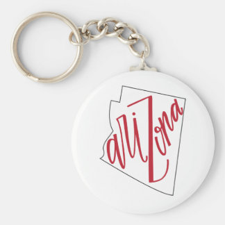 Arizona | State Typography Design Key Ring