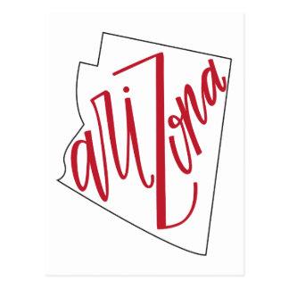 Arizona | State Typography Design Postcard