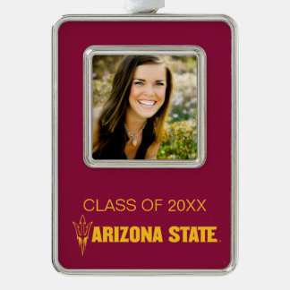 Arizona State Universtiy Graduation Silver Plated Framed Ornament