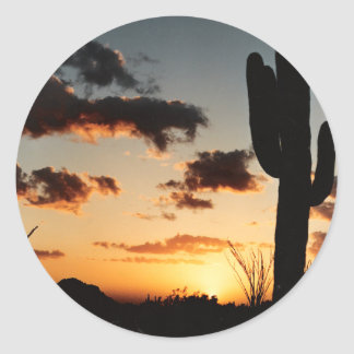 Arizona Sunet Picture Classic Round Sticker