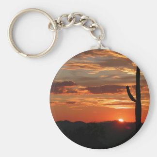 Arizona Sunset Basic Round Button Key Ring