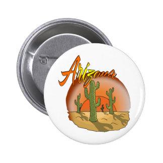 ARIZONA Sunset Cactus Pin