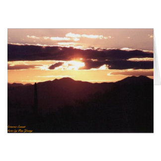 Arizona Sunset Card