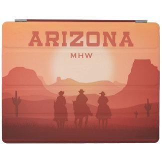Arizona Sunset custom monogram device covers iPad Cover