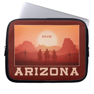 Arizona Sunset custom monogram laptop sleeves