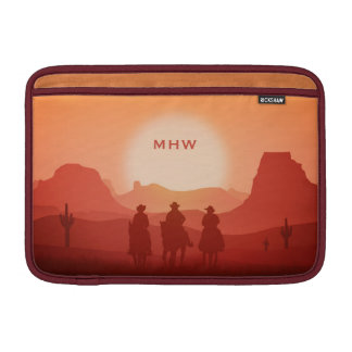 Arizona Sunset custom monogram MacBook sleeves