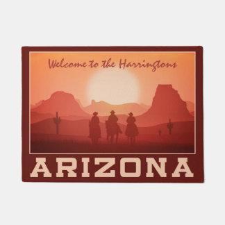 Arizona Sunset custom name door mats