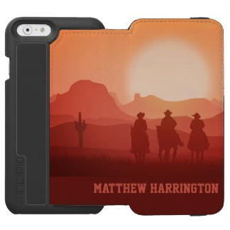 Arizona Sunset custom name phone wallets Incipio Watson™ iPhone 6 Wallet Case