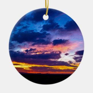 Arizona Sunset Round Ceramic Decoration
