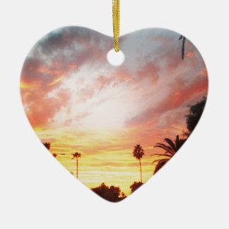 Arizona Sunset Ceramic Heart Decoration