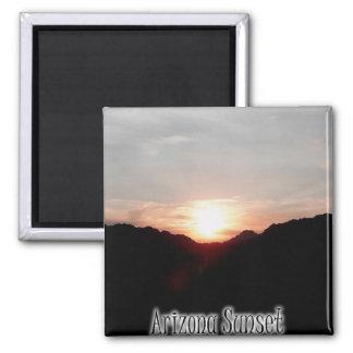 Arizona Sunset Square Magnet