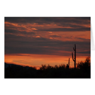Arizona Sunset Note Card