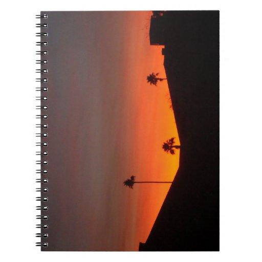 Arizona Sunset Spiral Note Book
