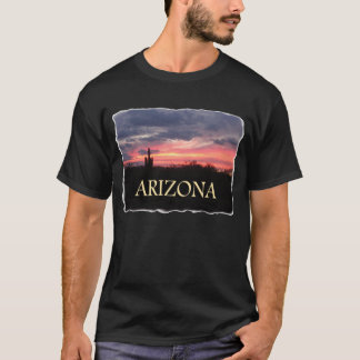 ARIZONA Sunset on black T-Shirt